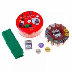 Набор для покера на 240 фишек в жестяной коробке