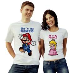Парные футболки Марио и принцесса