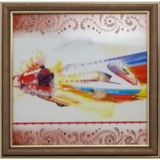 Картина с кристаллами Сваровски Железнодорожник