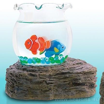 Мини-аквариум Рыбки, декоративный
