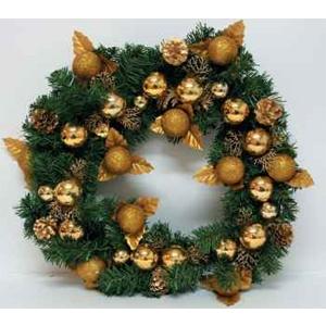 Новогодний венок «Золотые шары»