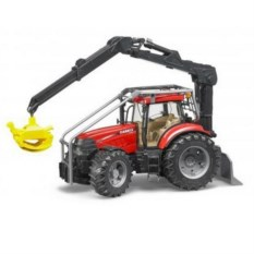 Модель трактора Case CVX с захватом для бревен от Bruder