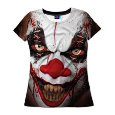 Женская 3D-футболка Зомби клоун