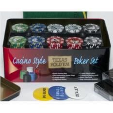 Набор для покера на 200 фишек Holdem Light Premium