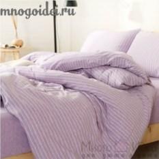 Комплект трикотажного постельного белья Лавандовый рай