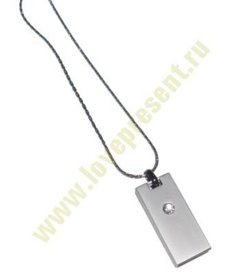 Флешка «Кулон» на 8 Гб (светлый металл)