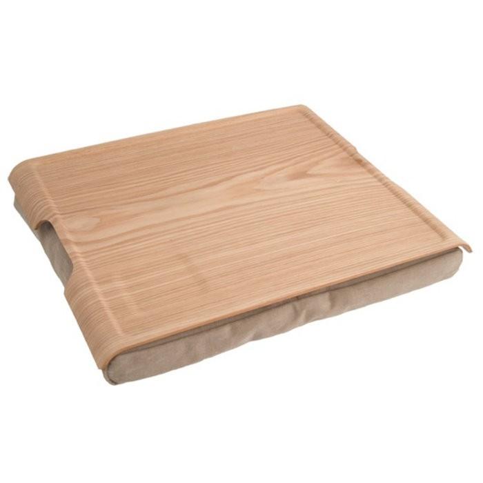 Подставка с деревянным подносом Laptray, дерево/песчаная