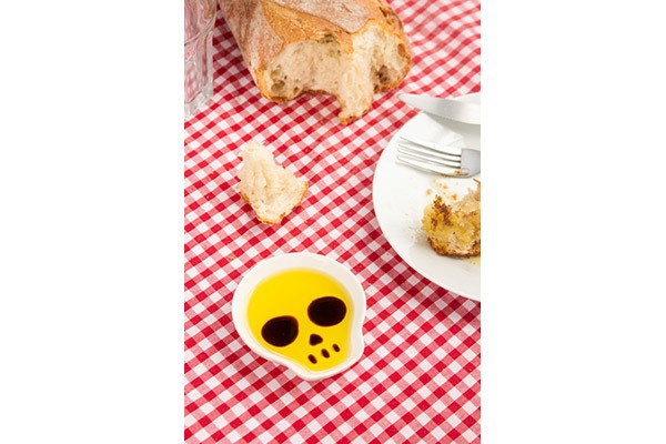 Блюдце для соевого соуса с палочками для еды Skull