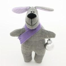 Игрушка-символ года Собачка из ткани