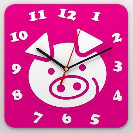 Детские часы «Свинка»