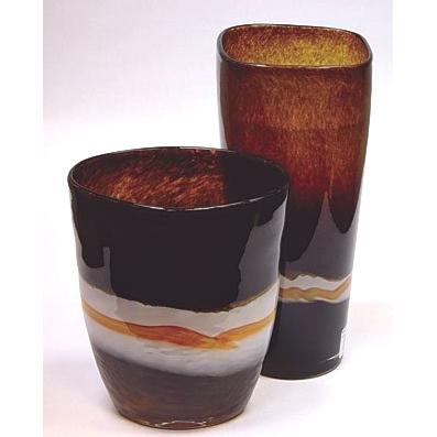 Ваза стеклянная «Кофе со сливками»