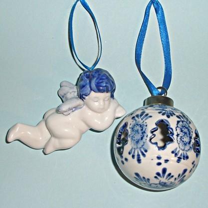 Сувениры из Голландии «Елочные игрушки DELFT»