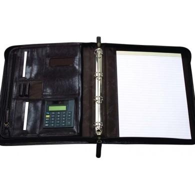 Папка на молнии с блокнотом и калькулятором