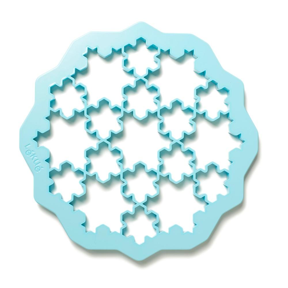 Голубая форма для выпечки печенья Снежинки