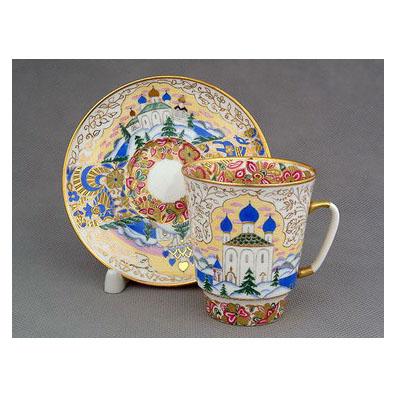 Чашка с блюдцем «Русь»