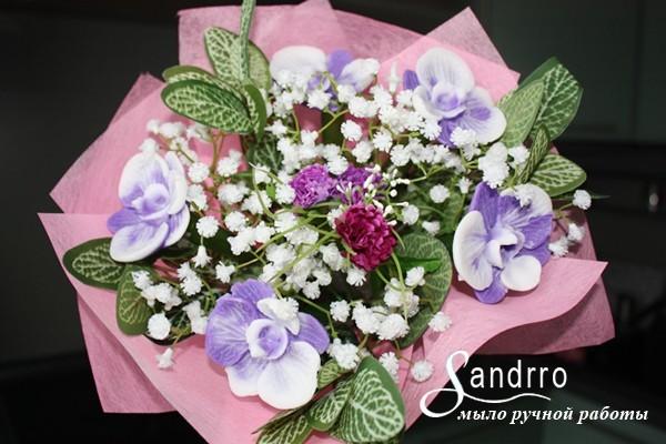 Букет цветов из мыла Орхидеи