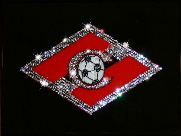 Картина с кристаллами Swarovski Спартак на черном фоне