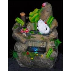 Настольный фонтан с подсветкой Лебедь
