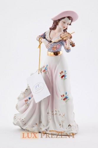 Фарфоровая статуэтка ''Леди со скрипкой'' (золото)