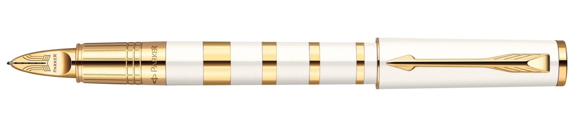 Ручка 5й пишущий узел Parker Ingenuity Ring Pearl & Metal GT