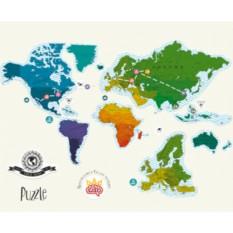 Магнитная скретч карта мира Truemap Puzzle