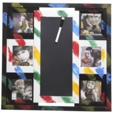 Фоторамка-панно для 6 фотографий с доской для записей