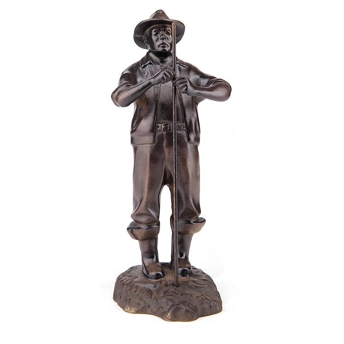 Бронзовая статуэтка Рыбак