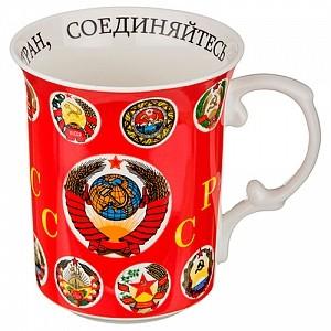Большая фарфоровая кружка «СССР»