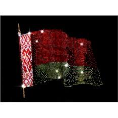 Картина с кристаллами Swarowski Флаг Белоруссии