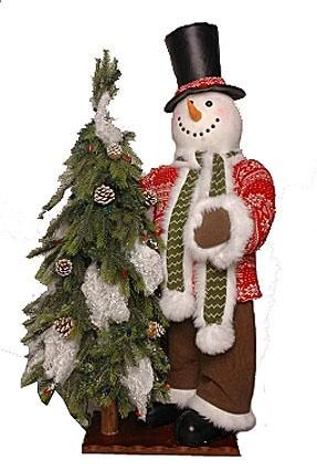 Новогоднее интерьерное изделие Снеговик