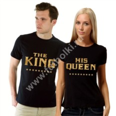 Парные футболки King, His queen