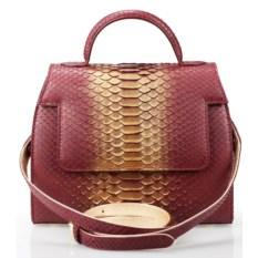 Лиловая сумка из кожи питона