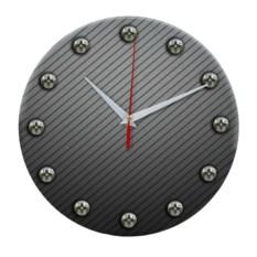Круглые настенные часы из стекла Сталь