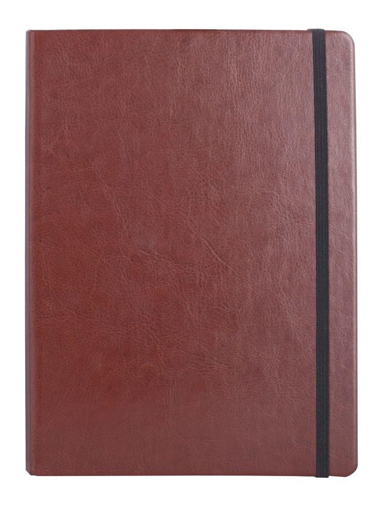 Коричневая записная книжка Freenote в клетку