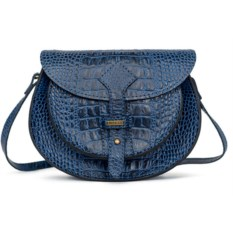 Женская сумка с художественной вставкой (цвет — синий)