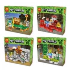 Набор из 4 конструкторов для детей Lele Minecraft