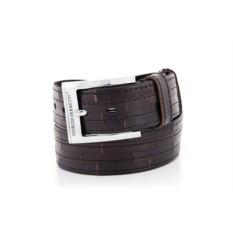 Черный мужской кожаный ремень тип 66-6