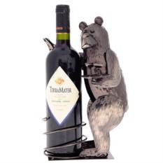 Декор бутылки из металла Медведь