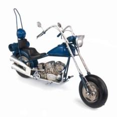 Ретро-модель Синий мотоцикл