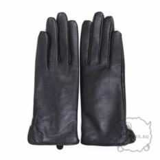 Черные кожаные перчатки для сенсорного экрана Romika