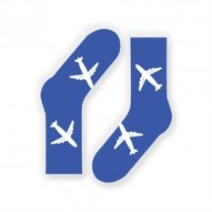 Голубые дизайнерские носки Самолеты от FlyByGauser