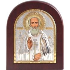 Икона в серебряном окладе Сергий Радонежский
