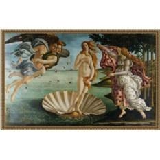 Репродукция на холсте Боттичелли «Рождение Венеры» в багете