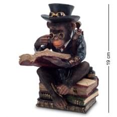 Статуэтка в стиле стимпанк Обезьяна с книгой