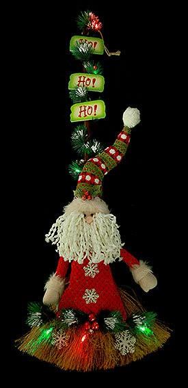 Новогодняя композиция с подсветкой Дед мороз