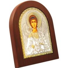 Святой Ангел Хранитель. Икона в серебряном окладе.