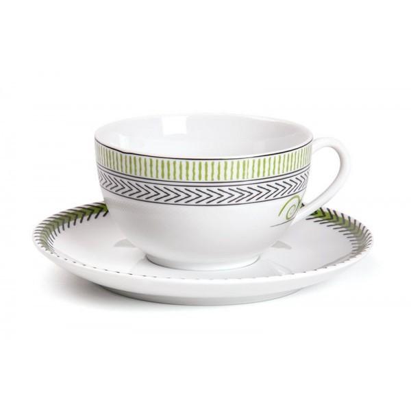 Фарфоровый набор чайных пар на 6 персон BEAUX ARTS MONALISA