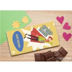 Шоколадная открытка «Суперпапе»