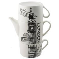 Чайник с двумя кружками Лондон