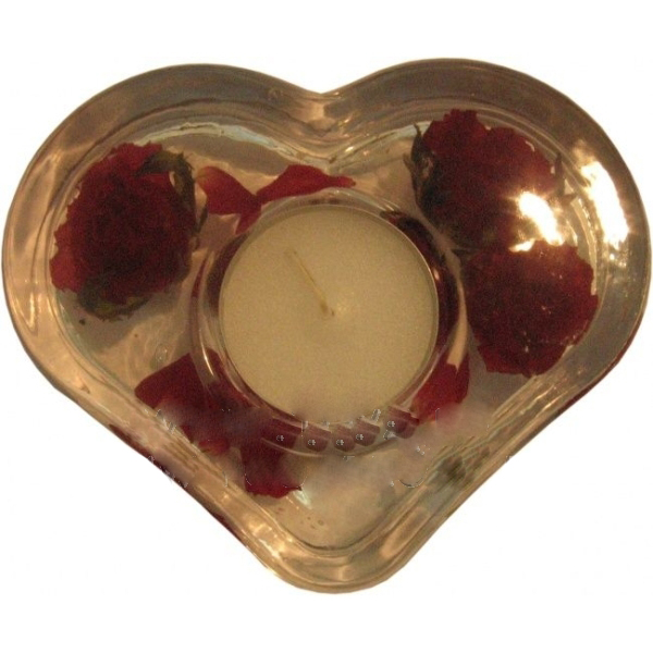 Подсвечник «Сердце-роза»